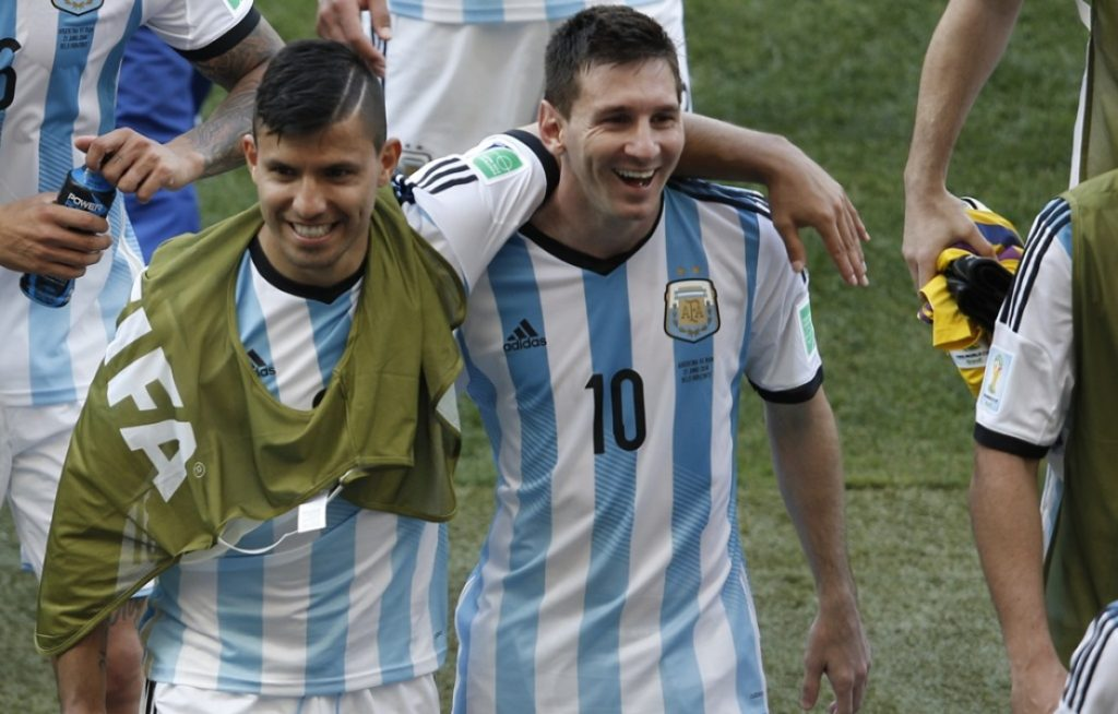 Messi y Aguero en el city